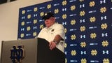 Notre Dame coach Brian Kelly isn't worried about his offense after the reserves were shut out in the second half of the Blue-Gold Game