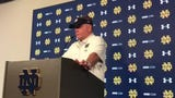 Notre Dame coach Brian Kelly isn't worried about backup quarterback Phil Jurkovec after a shaky showing in the Blue-Gold Game