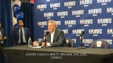 Sixers coach Brett Brown on Joel Embiid deciding to play on a sore knee, and Embiid on his play.
