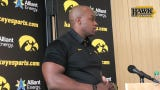"""Iowa wide receivers coach Kelton Copeland says, """"I'm a true believer that players are a refection of their coach."""""""