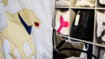 Sea Bags has recycled over 700 tons of sail material into handcrafted totes and bags. The Maine-based company recently opened a shop in Rehoboth.