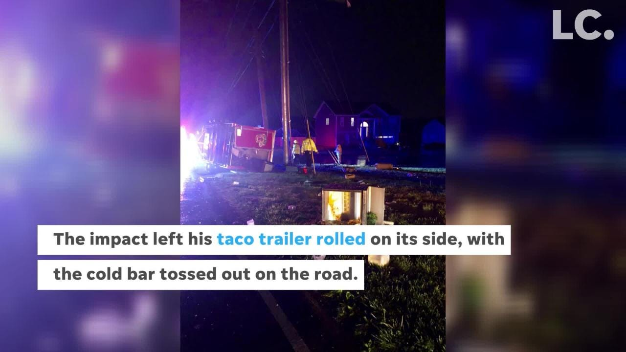 Accident shuts down popular Fatboy Tacos food truck