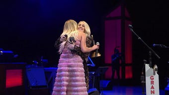 Carrie Underwood introduces Kelsea Ballerini as the newest member of the Grand Ole Opry Tuesday, April 16, 2019