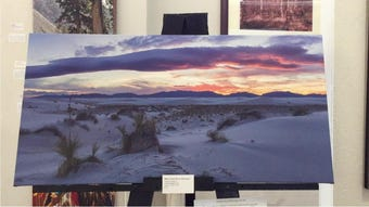 Nancy Gregory's photography is on exhibit at the Tularosa Basin Gallery of Photography and features her works of White Sands National Monument.