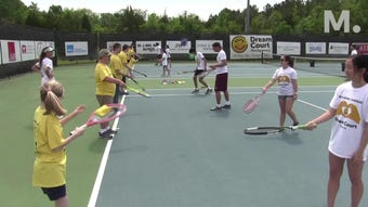Jessica Weyreuter combines her love of tennis with her desire to help special-needs children.