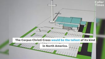"""Construction at the site of the tallest cross in North America is ongoing. It will be in Corpus Christi, a Texas city named """"Body of Christ."""""""