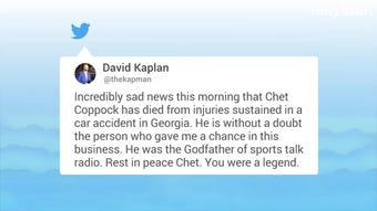 Reaction to the death of iconic sports broadcaster Chet Coppock.
