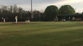 Kaden Martin pitched against Bearden in late March, earning the win for the Irish in this district game.