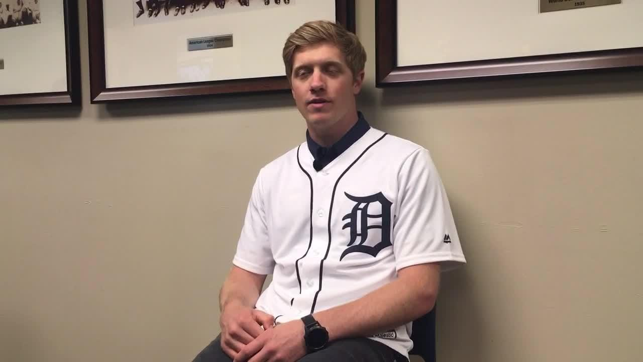 IndyCar's Spencer Pigot shares first-pitch experience at Comerica Park