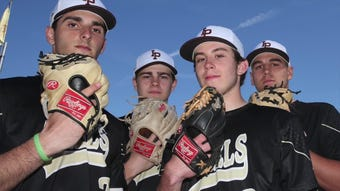 Iona Prep has four pitchers that are going to play Division 1 baseball in college April 17, 2019.