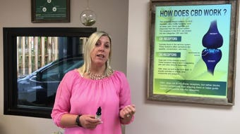 Christy Britt is the owner of 'CBD Farmacy' in Taylors. She speaks about why people use various CBD products.