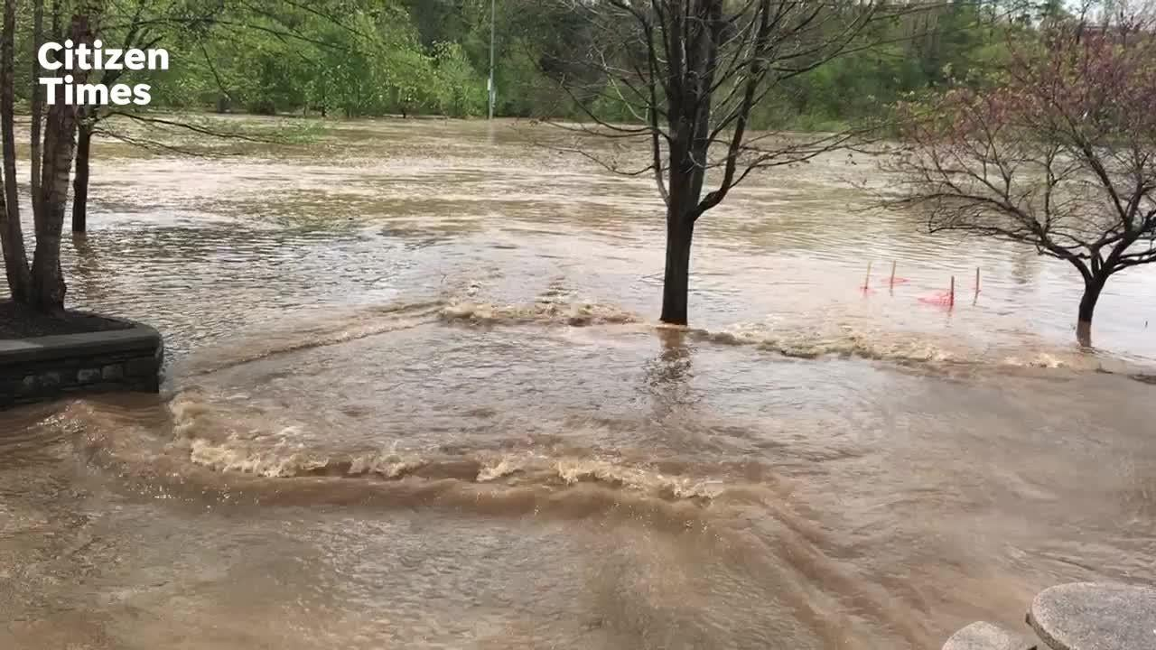 Asheville flooding: Water outage off Bee Tree Creek, parks remain closed