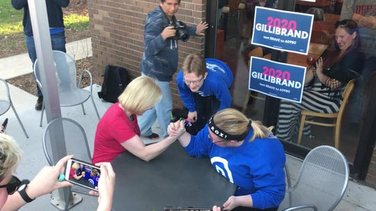 'She's ripped': Gillibrand arm-wrestles young Democrat on campaign trail