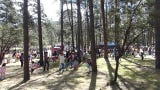 Hundreds of children scrambled to find 6,000 plastic eggs, some with prizes inside, at the 30th annual Ruidoso Easter egg hunt.