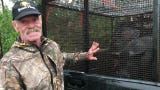 """Melbourne wildlife trapper JamesDean said he received a call from an undisclosed landownerthat was undergoing """"some major pig issues."""""""