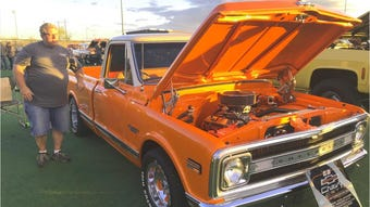 The 2019 Kool April Nites classic car show got underway Saturday, April 20, 2019, with show & shines, including this one at Big League Dreams in Redding.