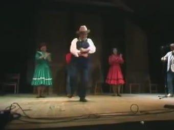 Robert Spicer, Dickson's late buck-dance legend strutting his stuff.