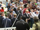 """President Donald Trump says that """"nobody"""" disobeys his orders, a reference to the Mueller report, which paints a deeply unflattering picture of his presidency. Trump made the comments Monday during the annual Easter Egg roll. (April 22)"""