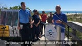 Congressman Bill Posey takes part in a boat tour of Port Canaveral, including the dredging project.