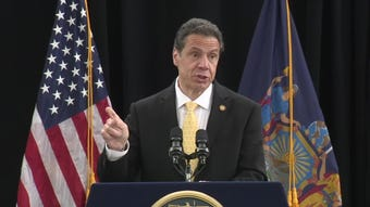 Gov. Andrew Cuomo explained why New York is banning single-use plastic bags during an event on Long Island on April 22, 2019.