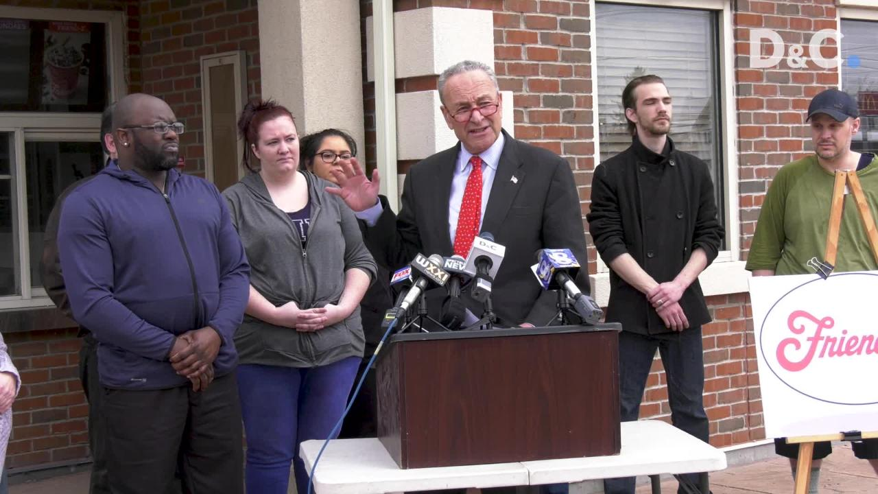 Schumer: 'Nasty' Friendly's layoffs may have violated labor law