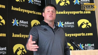 With T.J. Hockenson and Noah Fant off the to the NFL, Iowa offensive coordinator Brian Ferentz addresses that position's immediate future.