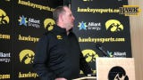 Iowa defensive coordinator Phil Parker met with reporters in advance of Friday's final spring practice.