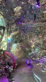 The Angler Grove house is filled with glass, mirrors, lights and moving disco balls. Outside Palm Springs, California, Jan. 2, 2019