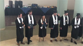 Twelve MTSU spring student athletes received an early graduation ceremony Tuesday.