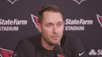Cardinals head coach Kliff Kingsbury talks about Patrick Peterson's absence, Josh Rosen's performance, and Kyler Murray's NFL potential.