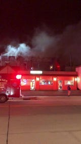 A live look at Tuesday night's downtown Waukesha fire.