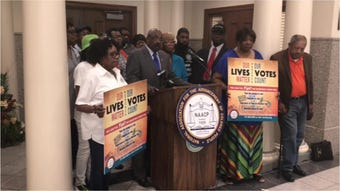 NAACP holds a press conference on McNairy County law enforcement officers racist social media posts
