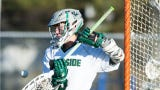 Former Parkside lacrosse goalie Phil Gianelle has started every game for Aurora University, hoping to lead his team to an appearance in the NCAA tournament.