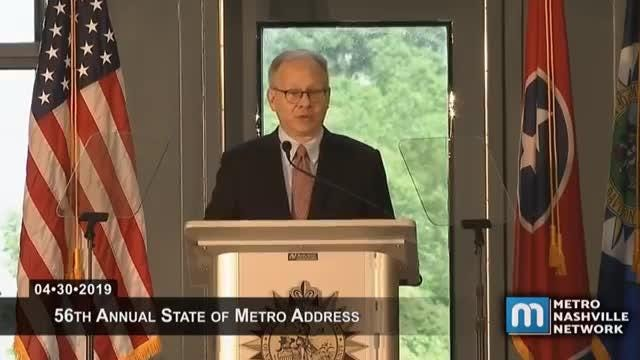 Mayor Briley discusses affordable housing during his State of Metro address