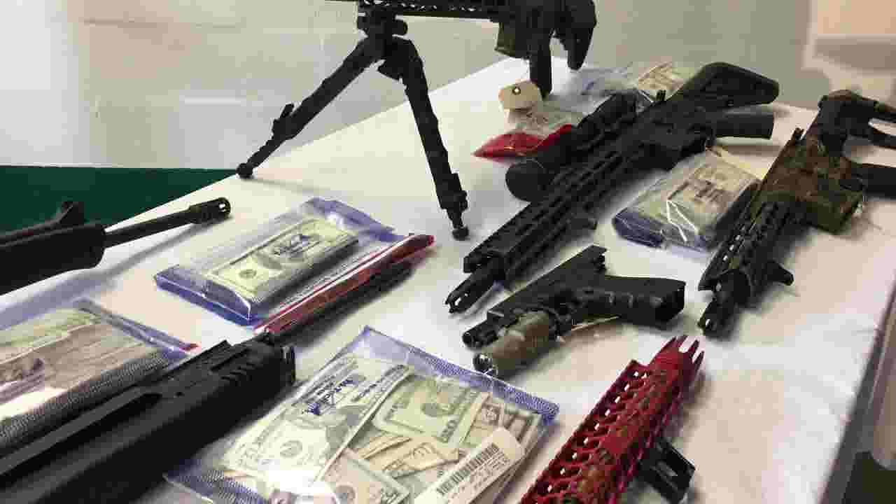 Large drug and weapons bust in Brevard