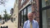 Dunellen Mayor Robert J. Seader looks at revitalization efforts in the borough's downtown Transit Village.