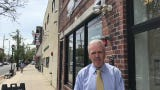 Dunellen Mayor Robert J. Seader looks at revitalization efforts in the borough's downtown Transit Village.