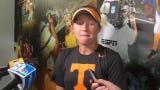Tennessee softball's Cailin Hannon describes the impact of senior teammate Aubrey Leach.