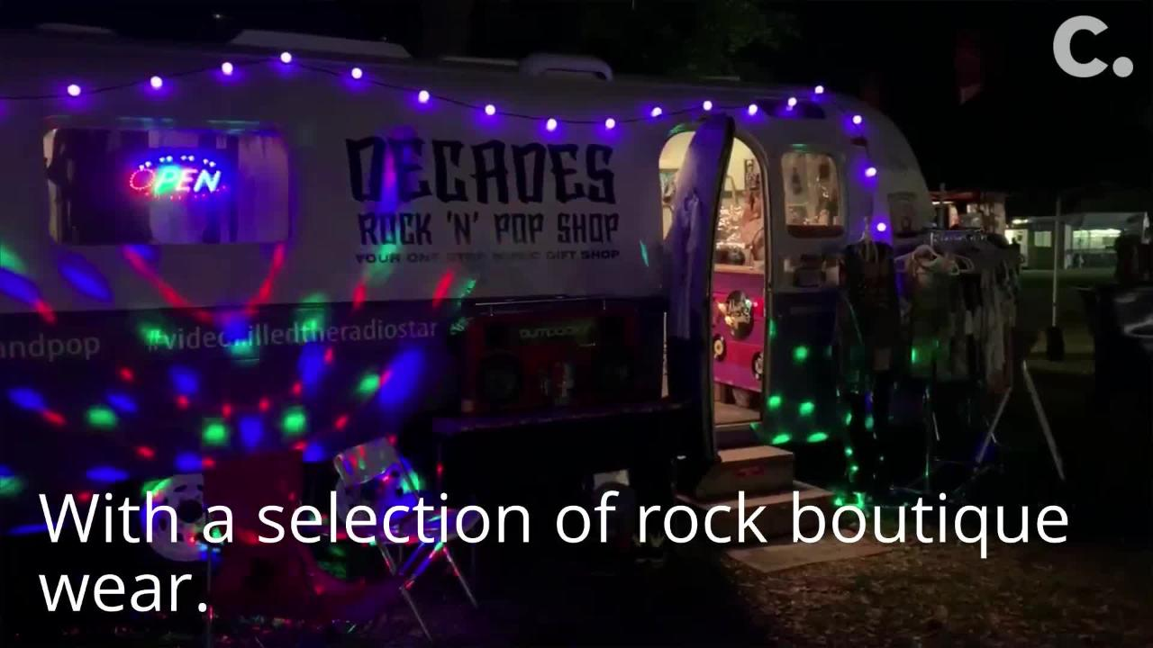 Vintage Airstream offers trip back in time with selection of '70s, '80s classic rock