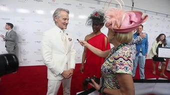 Monte was accompanied by Stacey Robinson with the Kentucky Derby Festival.