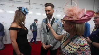 Shelburne proposed to his wife, Amy, on the Kentucky Derby red carpet in 2017.