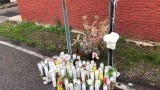 Balloons, flowers, candles have been set up at the spot where Antonio Garcia, 27, of York, was found shot to death Thursday in York.