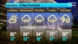 Jackson Weather Forecast, Monday, May 6