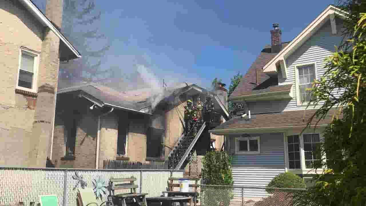 WATCH: Home damaged in South River fire on Monday