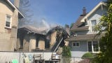 A home was damaged in South River by fire Monday.