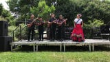The Alisal Center for the Fine Arts youth group performed Son Jarocho, a Mexican style of music that blends African, indigenous and European sounds.