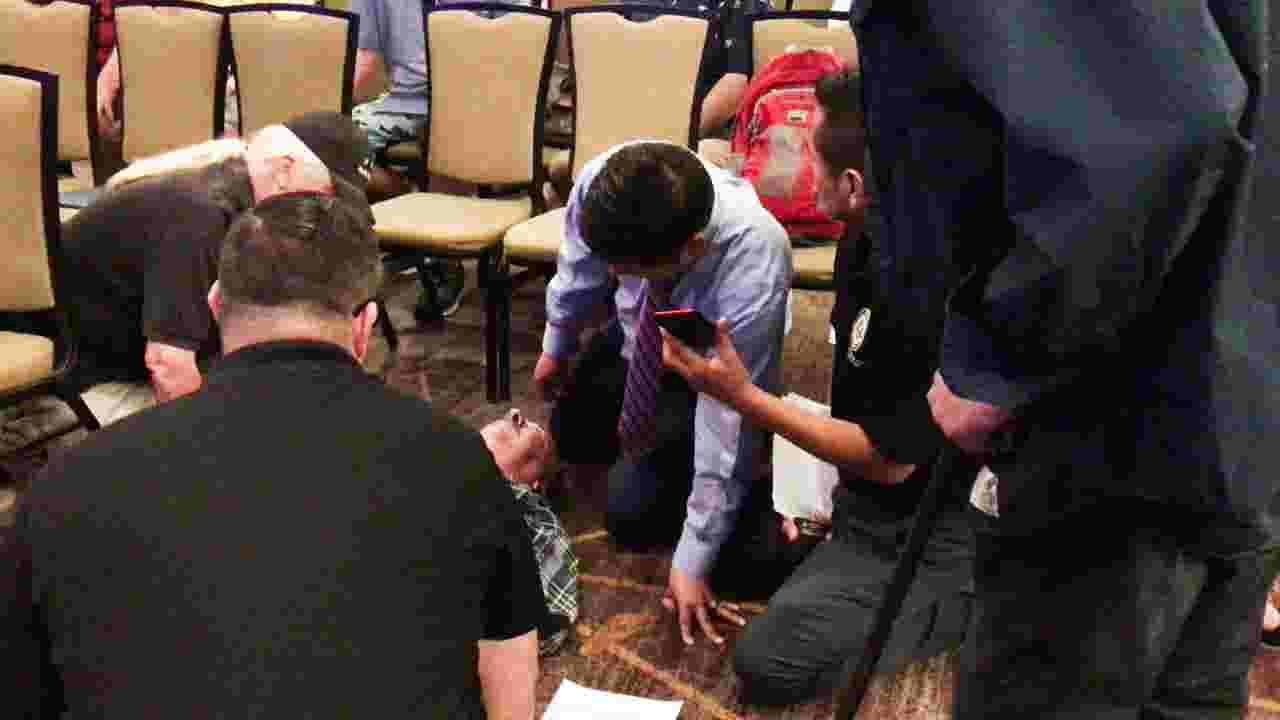 Congressman Raul Ruiz responds to medical emergency — once again — treating man with seizure