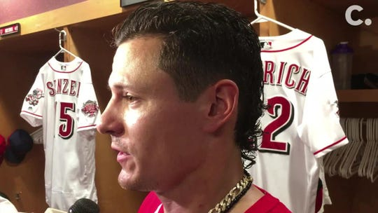Reds' Derek Dietrich doing everything he can to make baseball loosen up