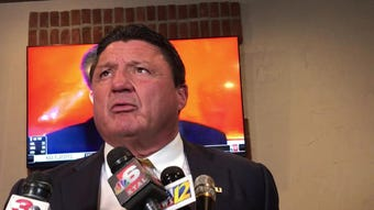 LSU's Ed Orgeron talks about what he sends his players home with
