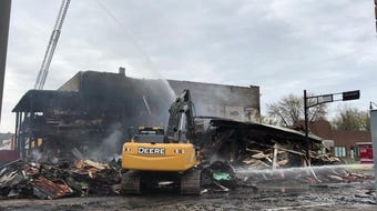 A well-known bar was destroyed by fire in downtown Oshkosh
